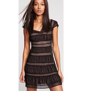 Free People Black Cocktail SheerLace Dress